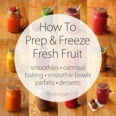 How To Prepare & Freeze Fresh Fruit {step-by-step tutorial} | ilovevegan.com
