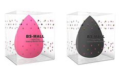BSMALL 2pc Flawless Makeup Blender Foundation Puff Multi Shape Sponges Black  Pink * More info could be found at the image url. (Note:Amazon affiliate link)
