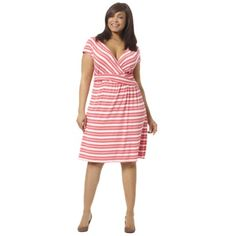 love this striped dress @plussize