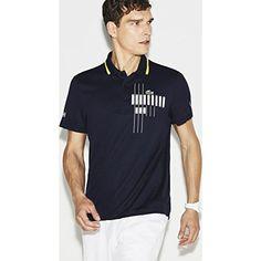 ec0d98096b Lacoste X Novak Djokovic Mens Polo Shirt Navy Blue Medium  tshirt  shirt   polos