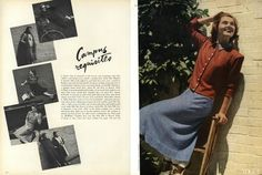 College Fashion in Vogue, August of 1938