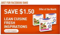 Lean Cuisine printable coupon: Save $1.50 off