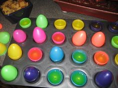 Easter Egg Jello Shots!! I used to make the virgin shots when kids were little but now easter has changed.