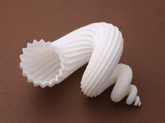auger stellatus shell - seashell 3d printed