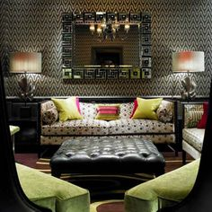 The Front Room lobby - wallcovering, mixed motif, electic design