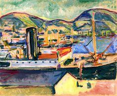 Bergen Harbor Edvard Munch - 1916