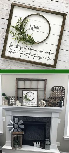 "Beautiful #shiplap wreath ""HOME"" sign. Would go great with #farmhouse #decor #ad"