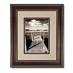 Set of 6  11x14 Ornate Heritage Bronze Picture Frames and Clear Glass with Double OysterEspresso White Core Mat for 8x10 *** More info could be found at the image url. (This is an affiliate link and I receive a commission for the sales)
