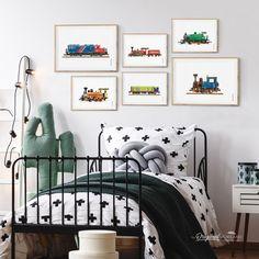 Choo Choo Train Nursery Mood Board By Chickadee Art And