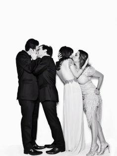 """Muza :: Informe-se, Inspire-se!: Clarice Falcão, Gregório Duvivier e outros do """"Porta dos Fundos"""" realizaram beijo gay em ensaio fotográfico..."""