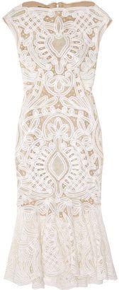 ShopStyle: Alexander McQueen Crochet-embroidered silk-organza dress