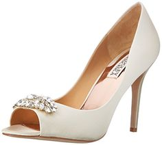 Badgley Mischka Women's Lavender II Dress Pump,Ivory Satin,6.5 M US Badgley Mischka http://www.amazon.com/dp/B00JPNT6K8/ref=cm_sw_r_pi_dp_3hUhwb0Q67E0K