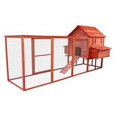 "Pawhut 144"" Large Backyard Hen House Chicken Coop w/ Long..."