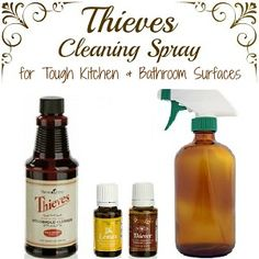 Thieves Cleaning Spray recipe using essential oils - Harvest to Harmony