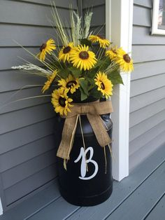 Farm Style Decorating, Modern Farm Style, Farm Decor, Farm Decorating You will receive letter of your choice. Letter is 6. This is a vinyl decal sticker. Easy to apply, and easy to remove. Please note this is not for the fall floral arrangement or the vintage milk can. Adorable