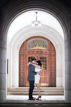 UW night engagement shoot - by Seattle based wedding photographer Nick Leung