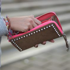 Studded Taupe Wallet / Available at www.Modemusthaves.com