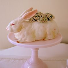 Lefton Bunny Rabbit Planter.