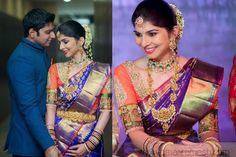 Bride in Purple Wedding Saree
