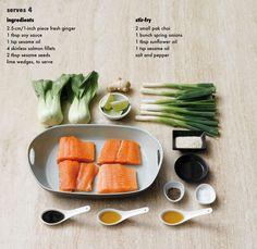 Seared Sesame Salmon with Pak Choi