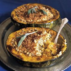 Roasted Squash with Sage Bread Crumbs Recipe - Saveur.com