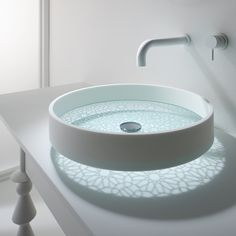 I love these Omvivo motif basins with hand etched glass that cast beautiful patterns - this is Kaleidoscope Basin.