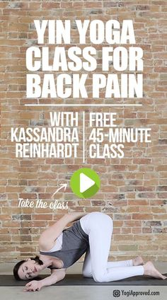Yin Yoga For Back Pain With Kassandra Reinhardt (FREE Class)