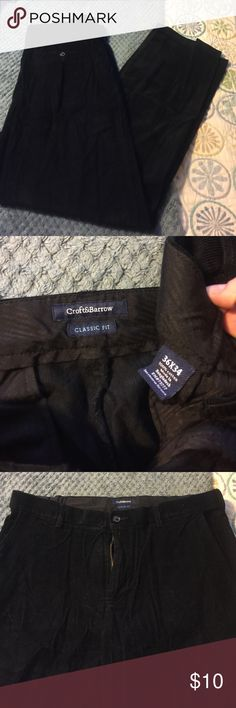 Mens Black Cords Mens Croft and Barrow flat front cords size 36/34! Like new, not sure if they were even worn! croft & barrow Pants Corduroy