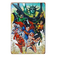 66Retro Justice League Vintage Retro Metal Tin Sign Wall Decorative Sign 20cm x 30cm -- More info could be found at the image url.Note:It is affiliate link to Amazon.