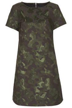 Camo Jaquard A Line Dress