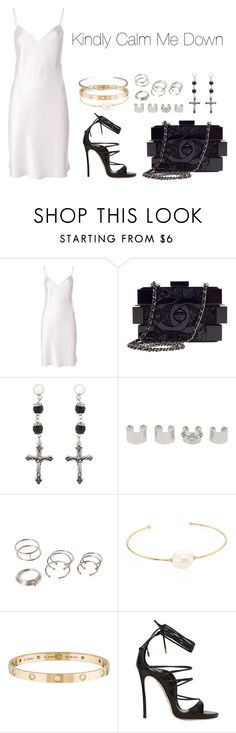 """""""Kindly Calm Me Down"""" by anaelle2 ❤ liked on Polyvore featuring Yves Saint Laurent, Chanel, Givenchy, Maison Margiela, Forever 21, mizuki, Cartier, Dsquared2 and Le Gramme"""
