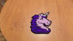 purple unicorn plastic canvas wall hanging by TmSalesCreations