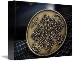 "Patek Philippe Geneve Commemorative Medal Coin $62 // Style: Soft Edge Canvas Print; Size: Petite 8"" x 10"" // Visit http://www.imagekind.com/Patek-Philippe-Geneve-PPG_art?IMID=02d2d878-c1ec-4135-b5f1-3c17e7a5ee8b for product details."