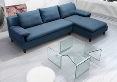 Madonna Tempered Glass Coffee Table - Clear Glass   Zuri Furniture