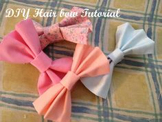 These are the BEST no sew hair bow tutorial. Download and Save this ideas about The 20 Best Ideas for Diy Hair Clippies  Now