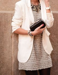 street style-- creme, gold, and black.