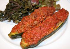 Mince Stuffed Zucchini - Gusto Paleo