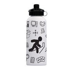 """Escape Room Doodles"" Stainless Steel Water Bottle"