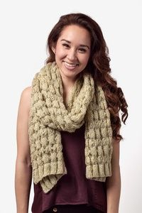 Tan/taupe Acrylic Oslo Sparkle Solid Knit Scarf