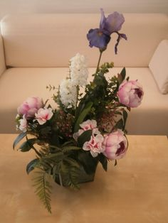 325 best flower arrangements images on pinterest silk flowers art iris peony and hyacinth silk flower arrangement by floraunique 5500 faux flower arrangements table mightylinksfo