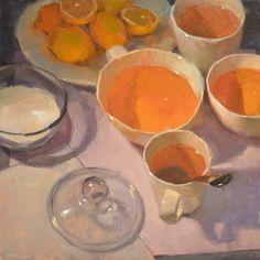 Carol Marine's Painting a Day: Preparing Tea