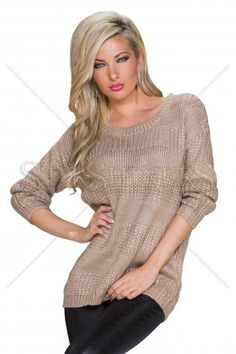 Warm Moment Brown Sweater, women`s sweater, easy cut, elastic fabric, knitted fabric Great Cuts, How To Get Warm, Warm Sweaters, Warm Outfits, Brown Sweater, Clothing Items, Knitted Fabric, In This Moment, Pullover
