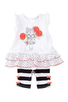 Cutie Rosie Tunic & Shorts Set (Baby Girls) by Petit Lem on @nordstrom_rack