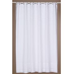 Pleated white shower curtain Worldmarket.com  $29.99