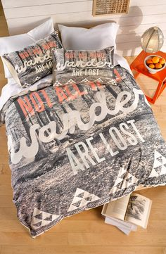 The wanderlust whimsy vibes of this bedding will make sinking into dreamland an adventure of its own.