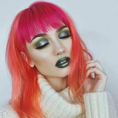 @sn0ok's monochromatic green look is to die for, and you can get all of the products featured for up to 85% off with free shipping today at limecrime.com/sale   Products: #DiamondDew in TEARFUL and DRAGON, UNICORNS #HiLitePalette in shade FROLIC, #DiamondCrushers in MEADOW