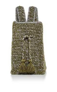 Khaki And Silver Hamptons Backpack by 7II for Preorder on Moda Operandi