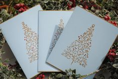 Christmas Tree Folded Cards