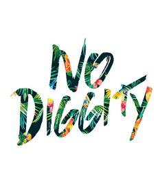 """No Diggity"" white t-shirt"