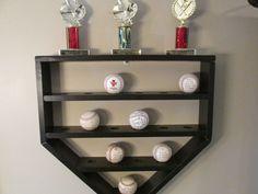Baseball Shelf, Hanging Shelf, Baseball Display, Baseball Decor, Kids  Baseball Room,